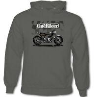 Cafe Racer Mens Biker Hoodie Motorbike Motorcycle Rider Indian Enthusiast Top