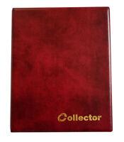 Collector Münz - Sammelalbum für 126 Verschiedene Münzen - Größen Album Rot