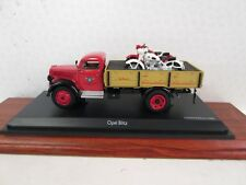 Schuco. Opel Blitz Flat Bed Truck with 2 Horex Motorcycles. 1:43. 45 030 5500