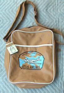 Molleton Atlas Airlines Transcontinental Flights to Europe Duffel Shoulder Bag