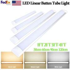 Led Linear Batten Tube Light 1ft 2ft 3ft 4ft Ceiling Surface Mount Lamp Fixtures