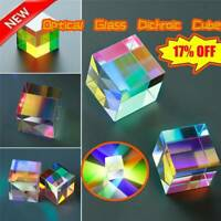 Optical Glass X-cube Dichroic Cube Prism RGB Combiner Splitter Gift Soft AU