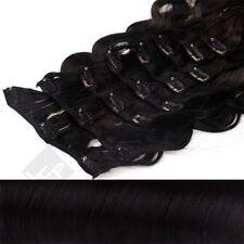 Schwarze Gewellte Haarverlängerungen