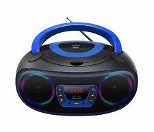 CD-Player mit Discolicht Radio USB Bluetooth MP3 AUX Denver TCL-212BT BLAU
