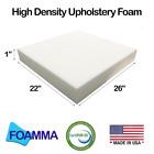 "Foamma 22"" X 26"" Upholstery Foam, High Density, New Cushion Replacement"