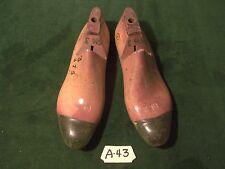 VINTAGE PAIR 1953 Wood Size 6-1/2 #3 375 JV Industrial Shoe Factory Last #A-43