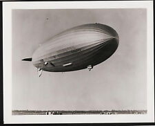"8x10"" Photograph Hindenburg Over Airfield Not Original"