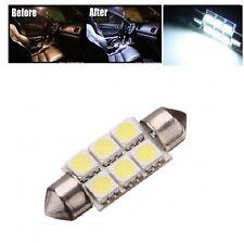 2x Super White 42mm 578 LED 211-2 Light Bulbs Festoon 5050 Dome Map Cargo Lamps