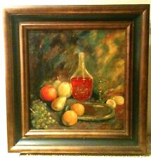 """""""The Bottle of Wine"""" by Henriette Roos, vintage oil on canvas, signed, 1930th"""