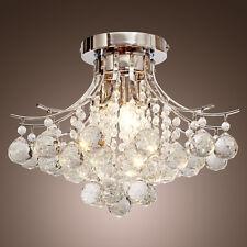 Saint Mossi® Crystal Rain Drop Modern Flush Chandelier Ceiling Pendant Lights