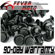 40 Pcs Black Fender Push Type Bumper Mud Clips for Honda CRV Acura 10mm Hole FM