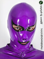 "Latex Maske ""Cat"" mit Kontrastfarbe"