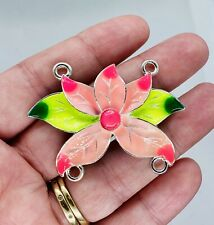 Large Metal Alloy Flower Connector Pendant Bead