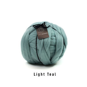 4kg  Light Teal Mammoth® Thick Super Chunky Extreme Arm Knitting Acrylic Giant