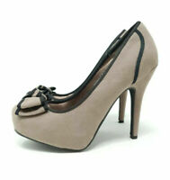 Anne Michelle Taupe / Grey Stiletto Heel / Court Shoes High Heels UK 4 EU 37