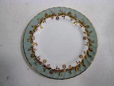 Vtg Aynsley Bone China 8209 Celadon Green Gold Scrolls 8 Bread Plates
