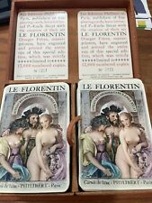 """Erotic Playing Cards 1956 """"Le Florentin"""" by Paul Emile Becat Double Deck"""
