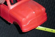 """1950S RARE VINTAGE *LIDO* 9"""" PLASTIC RED MODEL TOY CAR NEW COND!! WH25 M"""