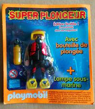 PLAYMOBIL PLAYMO FIGURINE DE MAGAZINE PUBLICITAIRE LE PLONGEUR SOUS MARIN SUPER