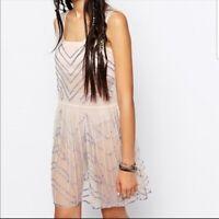 Details about  /Free People NWT Intimately Velvet Slip Mini Dress Small S Mauve New OB690264