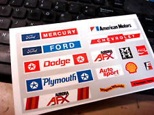 MATTE STICKER REPRODUCTION FOR AFX AURORA DUAL PIT STOP HO SLOT CAR ACCESSORY
