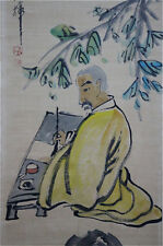 """Excellent Chinese 100% Hand Scroll & Painting """"Old Man"""" By Qi baishi 齐白石 FM689"""