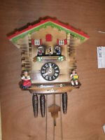 Cuckoo Clock Black Forest Scnmeckenbecher SEE VIDEO Musical Chalet 1 Day CK1284
