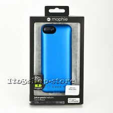 Mophie Juice Pack Helium 1500mha Battery Hard Case for iPhone Se 5s 5 Blue NEW