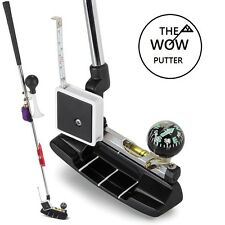 Golf Gift Putter. Complete with level, horn, tape, candle, rabbit ft, compass