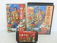SANGOKUSHI III 3 ref/C Mega Drive Sega md