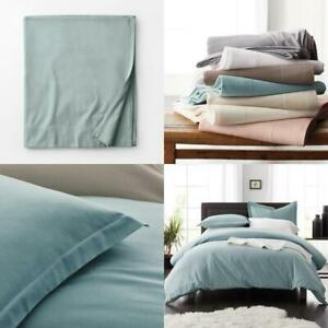 Legacy Velvet Flannel Cloud Blue Solid Extra Deep Queen Flat Sheet