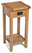 Oak Country Side & End Tables with Shelves