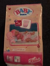 Baby Born Dolls Nappies X 5 Brand New