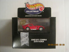 hot wheels collectibles shelby cobra daytona red new in the box