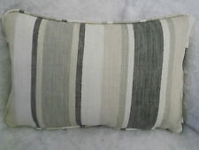 "AWNING STRIPE BY LAURA ASHLEY OBLONG CUSHION 18"" X 12"""