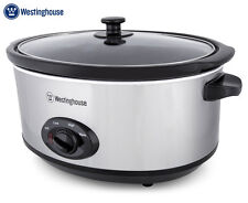 Westinghouse 6.5L Slow Cooker - Black/Brushed Stainless Steel