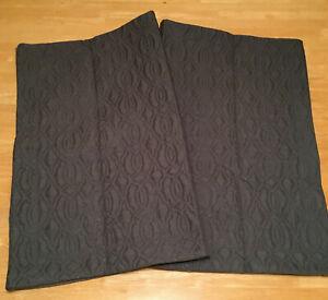 SL Home Fashions Dark Gray Quilted Microfiber Standard Shams (2) 2020