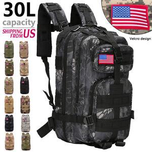 30L Military Rucksack Camping Hiking Tactical Backpack Trekking Bag Outdoor US