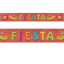 3m Mexican Fiesta Glitter Fringe Western Wild West Party Banner Decoration
