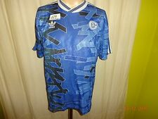 "FC Schalke 04 Original Adidas Heim Trikot 1992/93 ""Ráctiv"" + Nr.4 Gr.S- M"