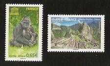FRANCE 2008 - Timbres de Service UNESCO n° 140 et 141 NEUFS** LUXE MNH