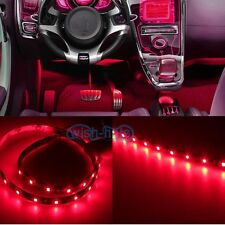 """2X 12""""  Red 12SMD LED interior exterior strip footwell under dash ambient light"""