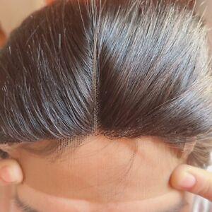 Brazilian Straight Hair Closure Remy Straight Human Hair T Part Lace Closure