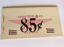 More details for vintage us air mail corrected booklet 1958 twelve 6c 73c changed to 7c 85c