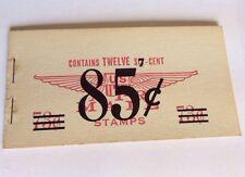 Vintage Us Air Mail Corrected Booklet 1958 Twelve 6c 73c Changed To 7c 85c