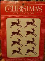 Meyercord Vintage Water Applied Craft Transfers Decals Christmas Reindeer NOS