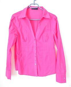 👗 Pink Button Up Women Long Sleeve Shirt 👗 Size M / L • Ladies Working / Smart