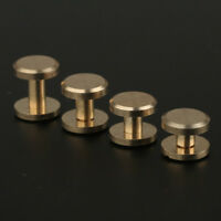 5/10 Belt Screw Leather Chicago Nail Brass Solid Rivets Stud Head Wallet Round