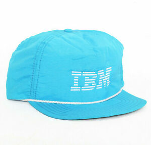 Vtg 90s IBM Computers Baseball Hat Cap apple microsoft vaporwave Snapback NEW