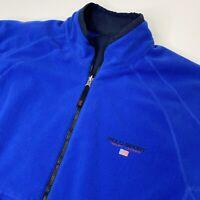 Vintage Ralph Lauren POLO SPORT Blue Reversible Fleece Heavyweight Coat Mens 2XL